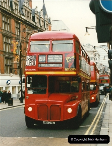 London Buses 1963 to 2007.  (138) 138