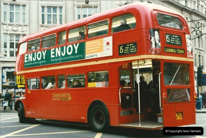 London Buses 1963 to 2007.  (149) 149