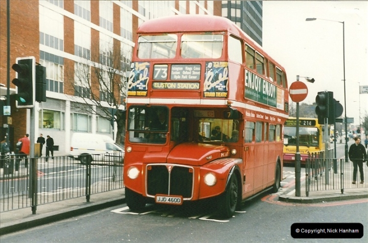 London Buses 1963 to 2007.  (154) 154