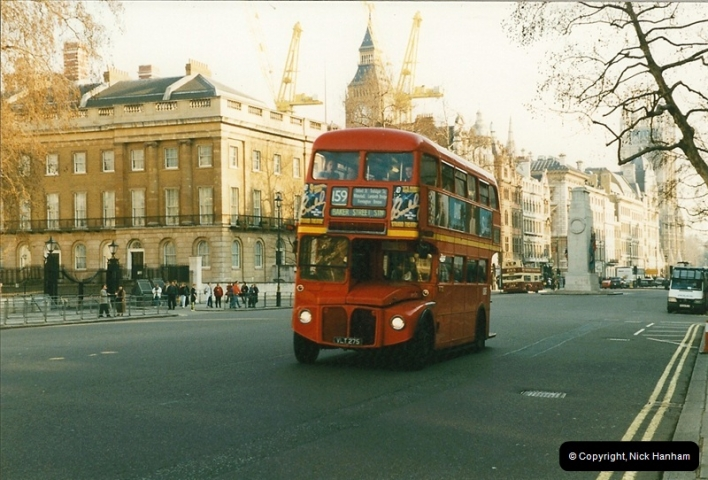London Buses 1963 to 2007.  (156) 156