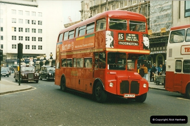 London Buses 1963 to 2007.  (168) 168