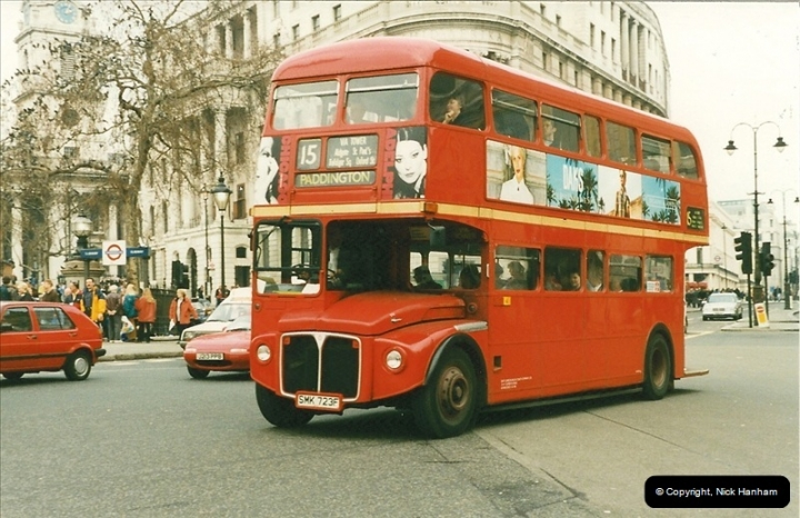 London Buses 1963 to 2007.  (184) 184