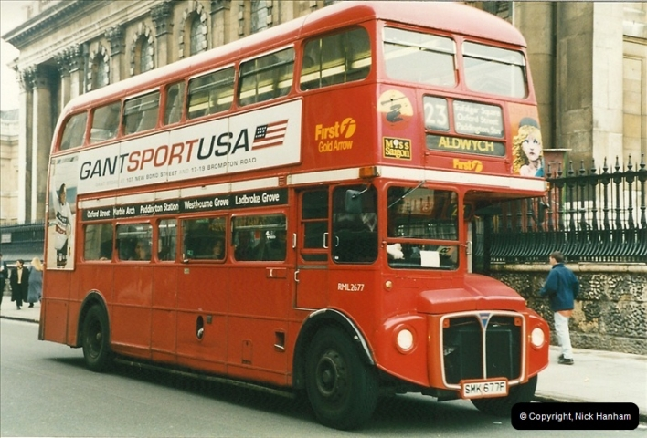 London Buses 1963 to 2007.  (198) 198