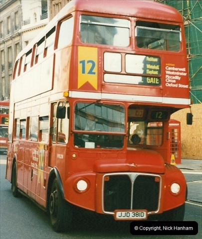 London Buses 1963 to 2007.  (222) 222