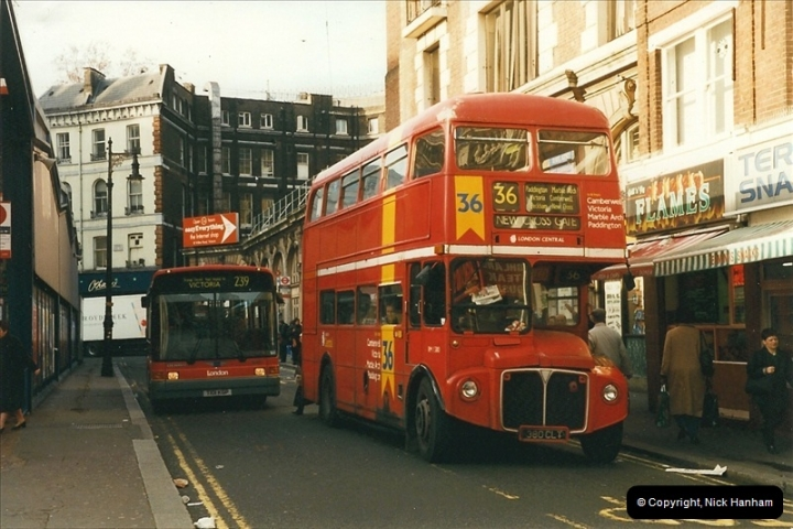 London Buses 1963 to 2007.  (254) 254