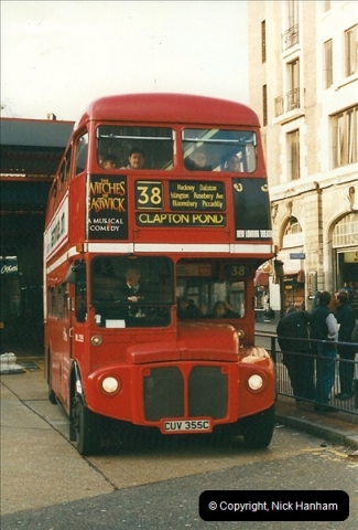 London Buses 1963 to 2007.  (257) 257