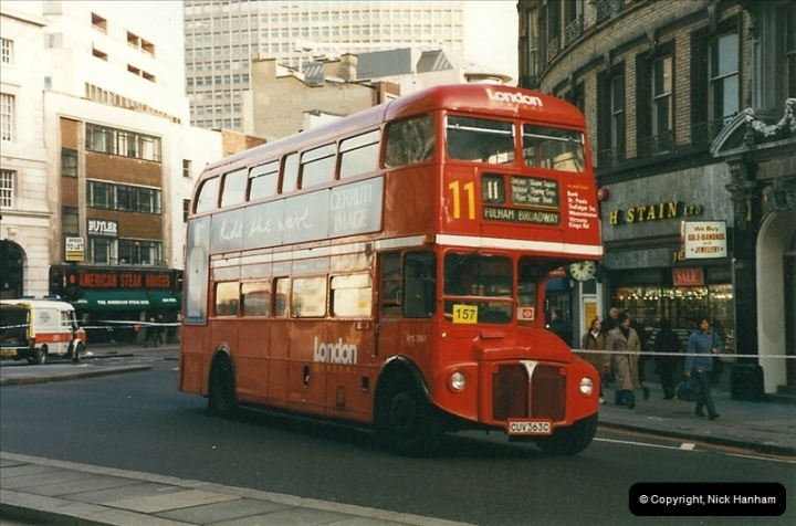 London Buses 1963 to 2007.  (266) 266
