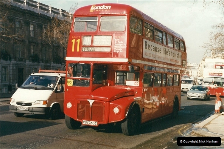 London Buses 1963 to 2007.  (296) 296