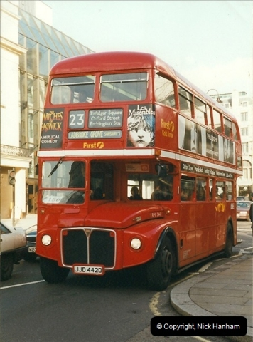 London Buses 1963 to 2007.  (307) 307