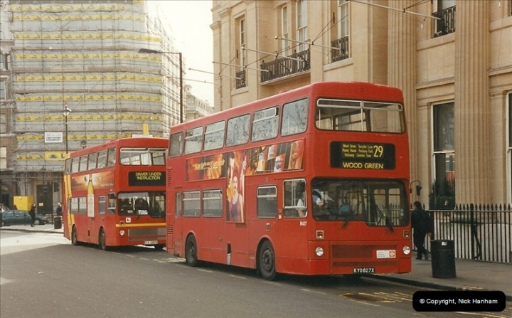 London Buses 1963 to 2007.  (308) 308