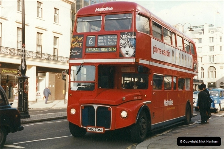 London Buses 1963 to 2007.  (309) 309