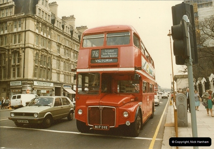 London Buses 1963 to 2007.  (38) 038