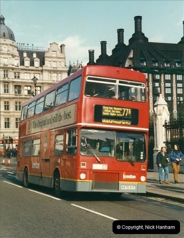 London Buses 1963 to 2007.  (380) 380