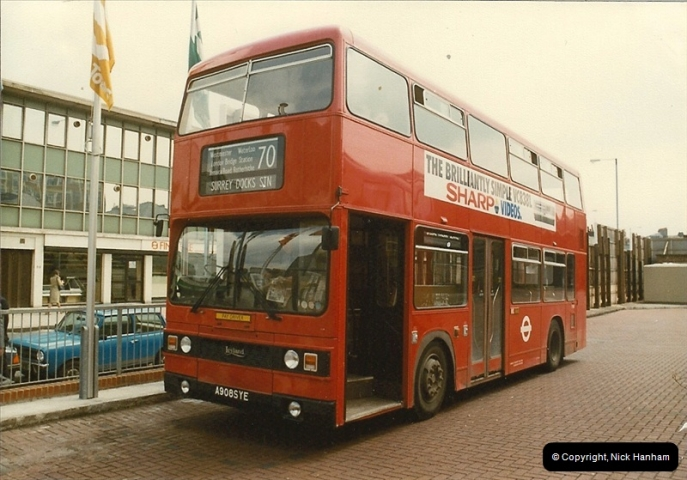 London Buses 1963 to 2007.  (39) 039