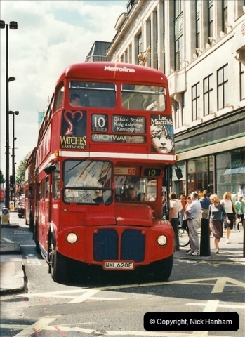 London Buses 1963 to 2007.  (418) 418