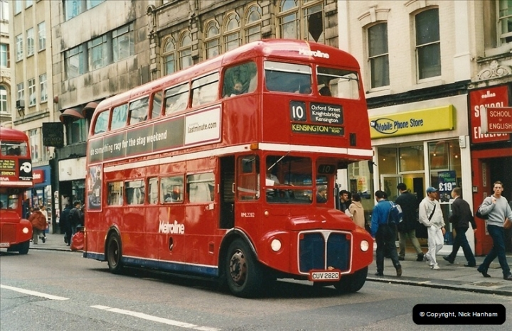 London Buses 1963 to 2007.  (485) 485