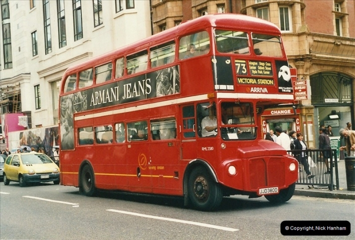 London Buses 1963 to 2007.  (490) 490