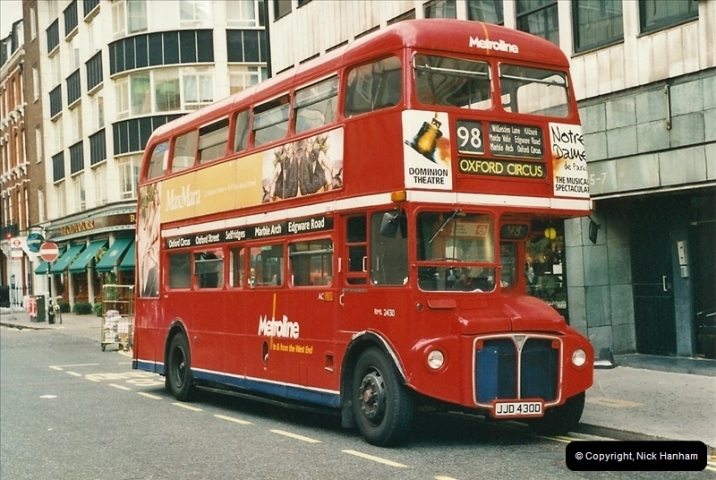 London Buses 1963 to 2007.  (493) 493