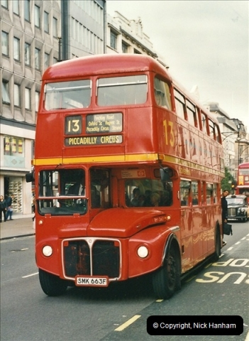 London Buses 1963 to 2007.  (499) 499