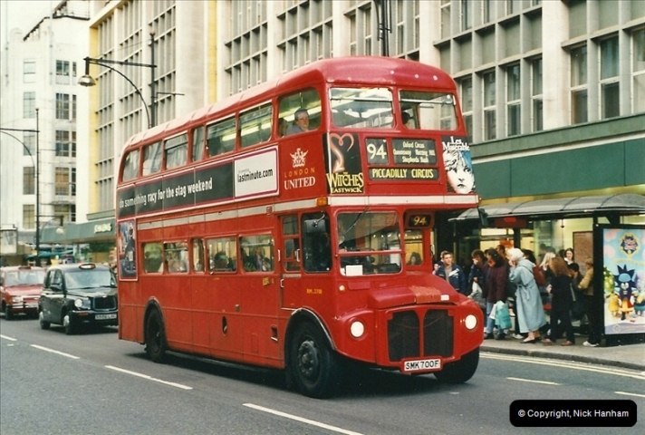 London Buses 1963 to 2007.  (506) 506