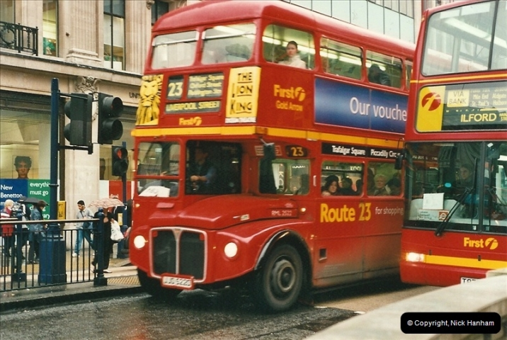 London Buses 1963 to 2007.  (518) 518