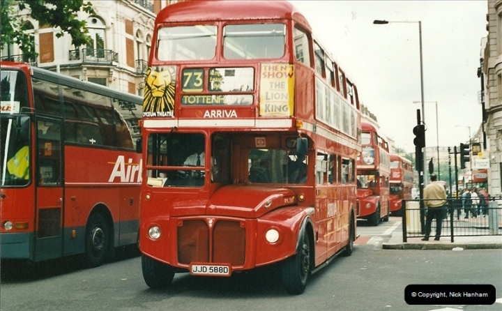 London Buses 1963 to 2007.  (545) 545