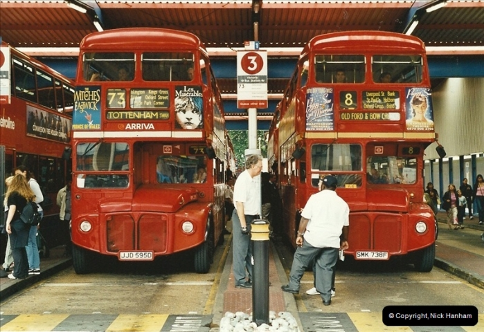 London Buses 1963 to 2007.  (548) 548