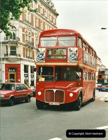 London Buses 1963 to 2007.  (553) 553