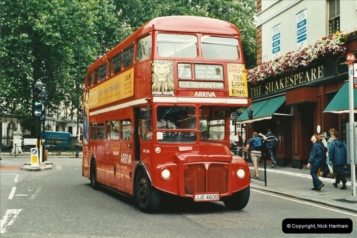 London Buses 1963 to 2007.  (555) 555