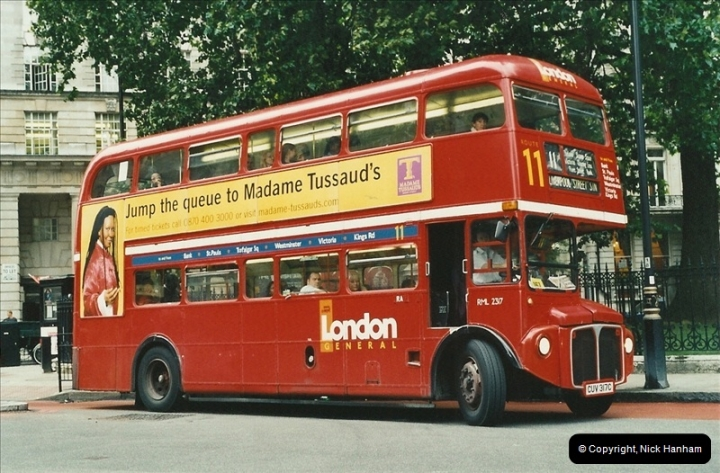 London Buses 1963 to 2007.  (556) 556