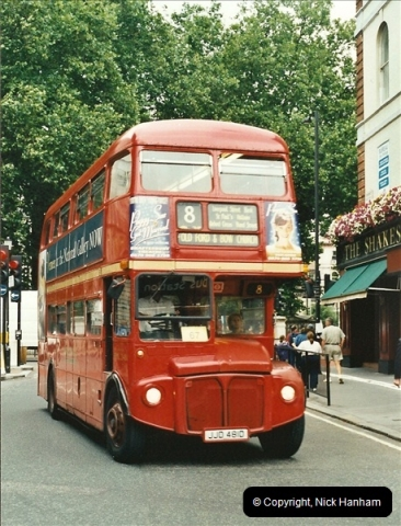 London Buses 1963 to 2007.  (558) 558