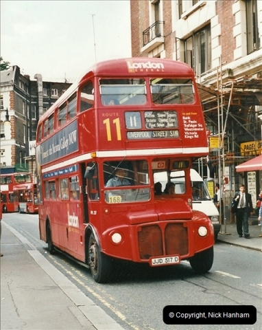 London Buses 1963 to 2007.  (591) 591