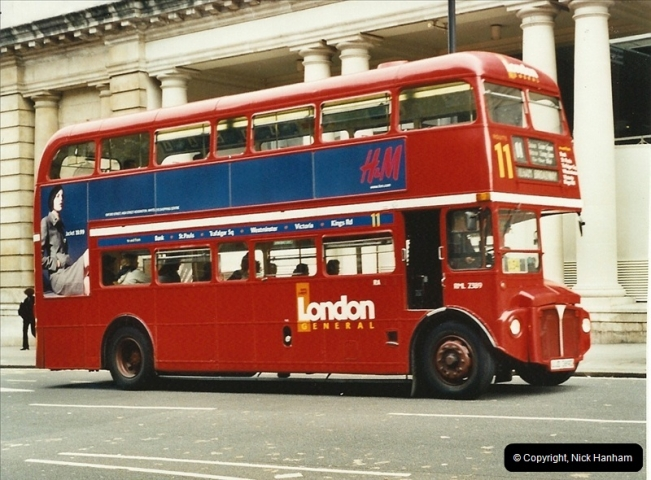 London Buses 1963 to 2007.  (598) 598