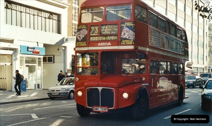 London Buses 1963 to 2007.  (600) 600