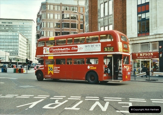 London Buses 1963 to 2007.  (611) 611