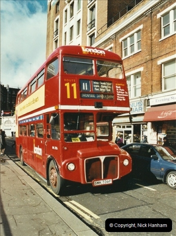 London Buses 1963 to 2007.  (617) 617