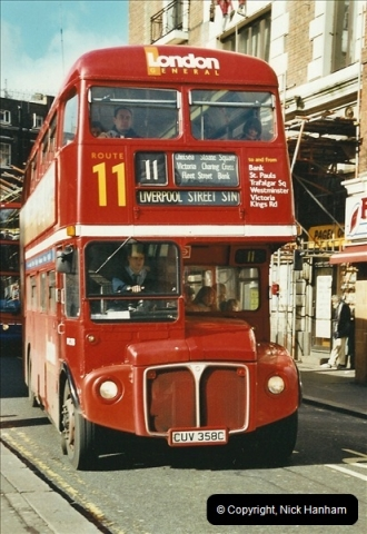 London Buses 1963 to 2007.  (619) 619