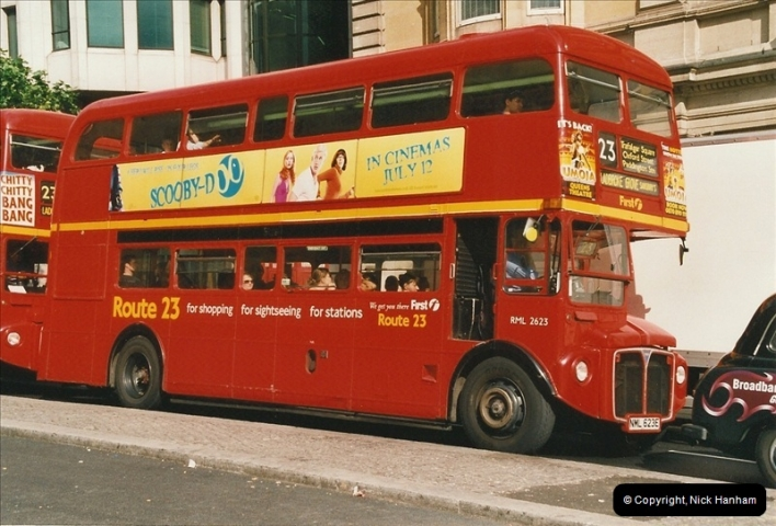 London Buses 1963 to 2007.  (627) 627