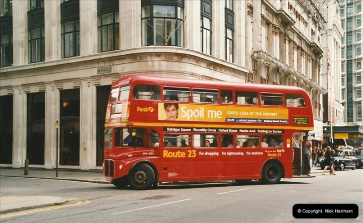 London Buses 1963 to 2007.  (634) 634