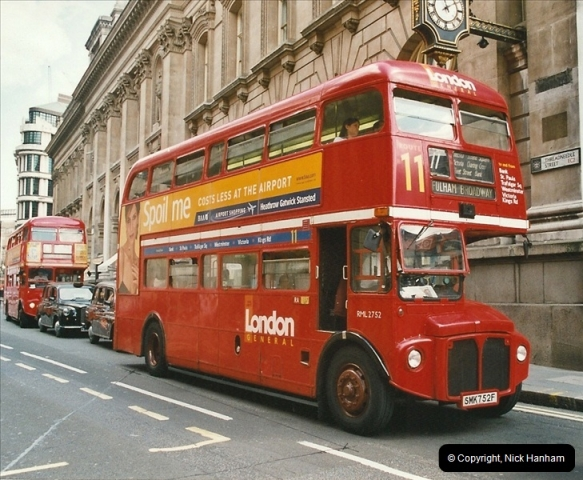 London Buses 1963 to 2007.  (636) 636