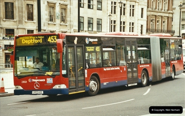 London Buses 1963 to 2007.  (666) 666