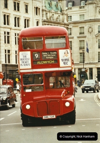London Buses 1963 to 2007.  (667) 667