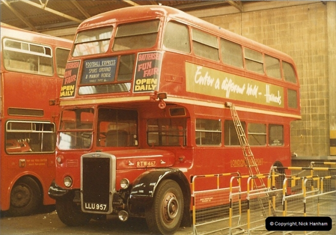 London Buses 1963 to 2007.  (7) 007