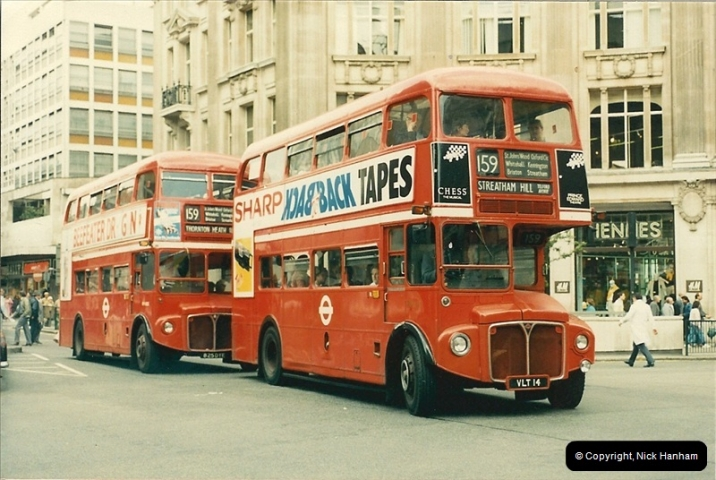 London Buses 1963 to 2007.  (70) 070