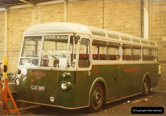London Buses 1963 to 2007.  (8) 008