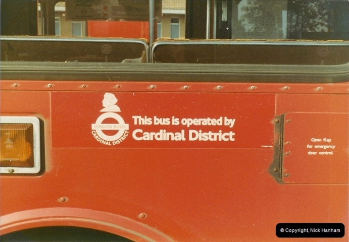London Buses 1963 to 2007.  (9) 009