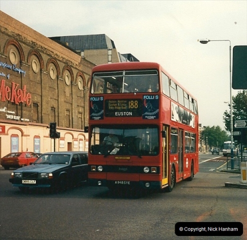 London Buses 1963 to 2007.  (95) 095