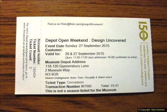 London Transport Museum Acton 27 September 2015