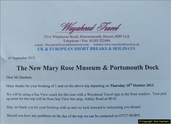 2013-10-10 Portsmouth Dockyard & Mary Rose.  (1)001