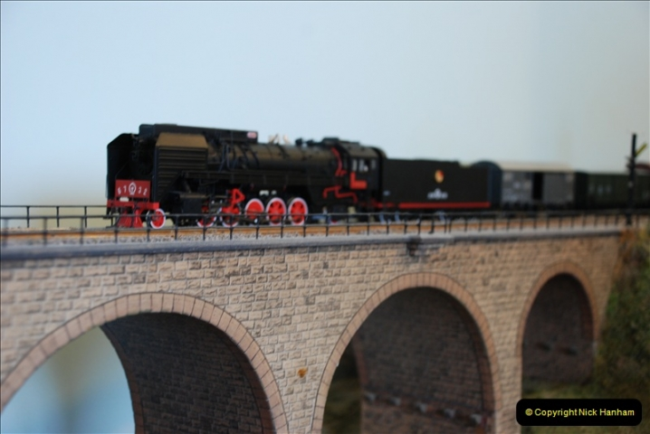Some of your Host's model locomotives running on a friends railway.  (37)37